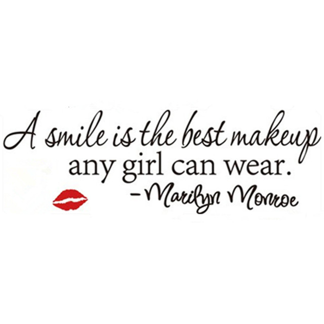 Marilyn Monroe quotes wall decals A Smile Is The Best