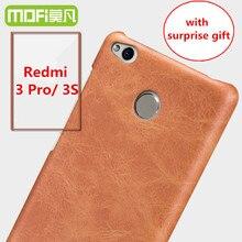 Redmi 3 pro case MOFi оригинал Xiaomi Redmi 3 s задняя крышка кожа жесткий назад коке телефон fundas Redmi3s с HD фильм заряда кабель
