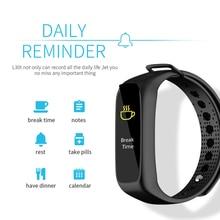 1 M Bajo El Agua de Color LCD L30t Bluetooth Inteligente Pulsera Banda de Cardio Dinámico Perseguidor de La Aptitud Del Ritmo Cardíaco Del Podómetro Reloj Inteligente