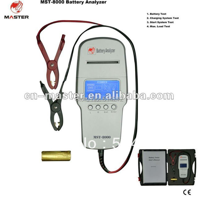 Digital battery analyzer with printer mst-8000 for battery test --factory price