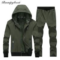 Bumpybeast 2018 Winter Keep warm Men's sportswear Hoodies Jacket+Pant Thick Sweatsuit Two Piece Set Tracksuit For Men Clothing