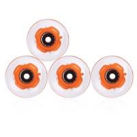 4pcs Set 60 X 45mm Long Board Skateboard Wheels Outdoor PU LED Transparent Skateboarding Wheels Durable