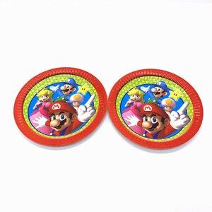 Image 3 - Super Mario Bros partei liefert dekoration set 158 teile/los einweg geschirr einweg papier platte tasse serviette tischdecke horn