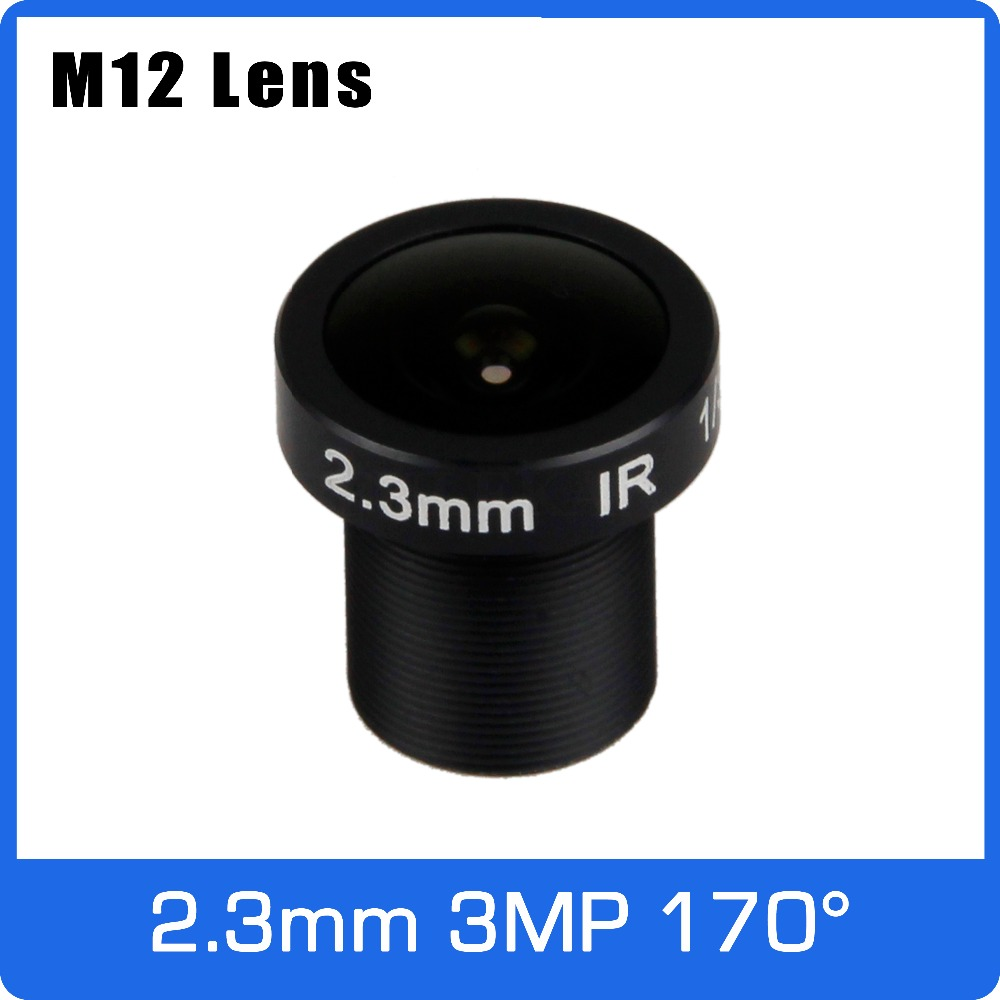 3Megapixel 2.3mm Fixed 1/3 inch 170 Degree Wide Angle CCTV Lens For OV4689 HD 1080P 4MP IP camera AHD CCTV Camera Free Shipping