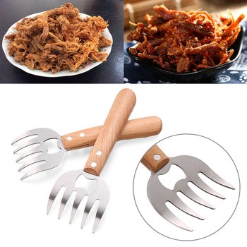 1pc New Wood Handle For Wine Beer Bottle Opener Bear Claw Cooking Barbecue Tool Accessories