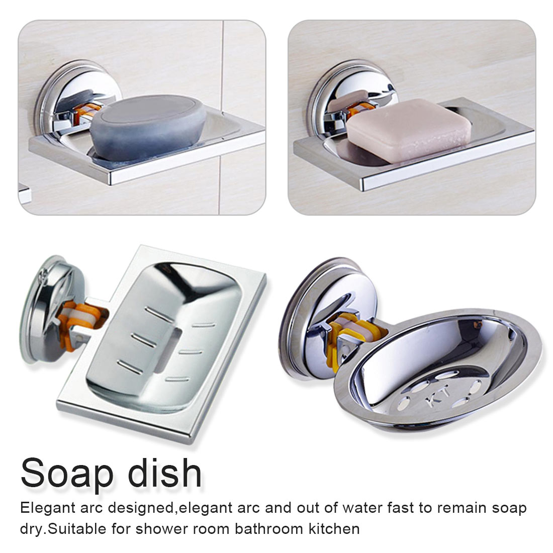 Suction Cup Soap Holder Bathroom Toilet Soap Box Creative Drain Soap Box Storage Rack Soap Tray Shower Accessory