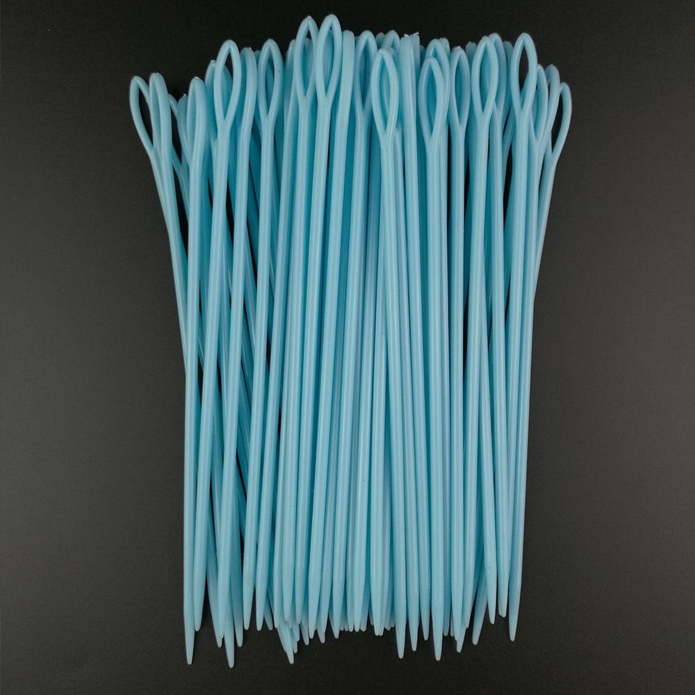 Plastic Hand Sewing Needles Safety Needles Yarn Darning Tapestry Kids Craft 9cm