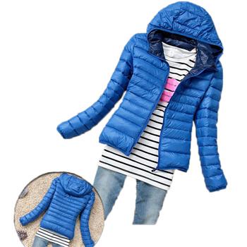 Gorąca sprzedaż kobiet bawełny kurtka z kapturem kobiet płaszcz Plus rozmiar zagęścić zima krótka bawełniana watowana odzież na zewnątrz dorywczo szczupła kobiet kurtki tanie i dobre opinie AOWOFS REGULAR DF-081 z Cienkie zipper Kurtki płaszcze Na co dzień Zamki WOMEN COTTON Stałe NONE Pełna Fashion