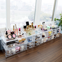 M large makeup bottle drawer storage box high quality plastic acrylic cosmetic makeup drawer storage organizer box C227 3