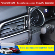 QHCP ABS Car Dashboard Left Side Air Conditioning Outlet Vent Strip Garnish Cover Trim Inner Accessory For Toyota New Camry 2018