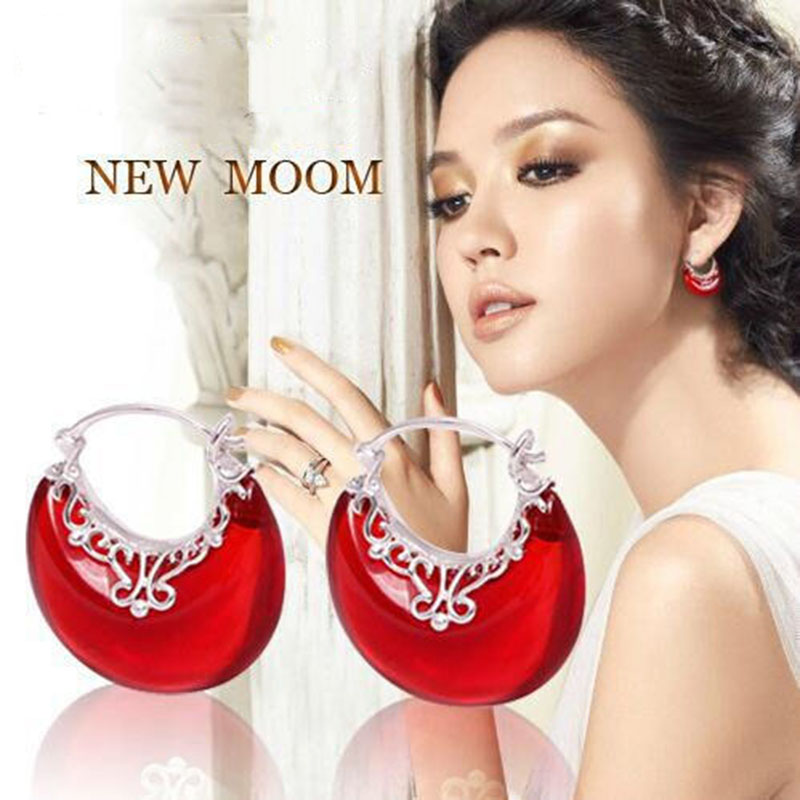 GAGAFEEL New Fashion Wholesale Genuine 100 Real Pure 925 sterling silver jewelry luxury new moon drop
