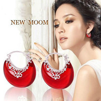 2014 New Fashion Wholesale Genuine 100 Real Pure 925 Sterling Silver Jewelry Luxury New Moon Drop