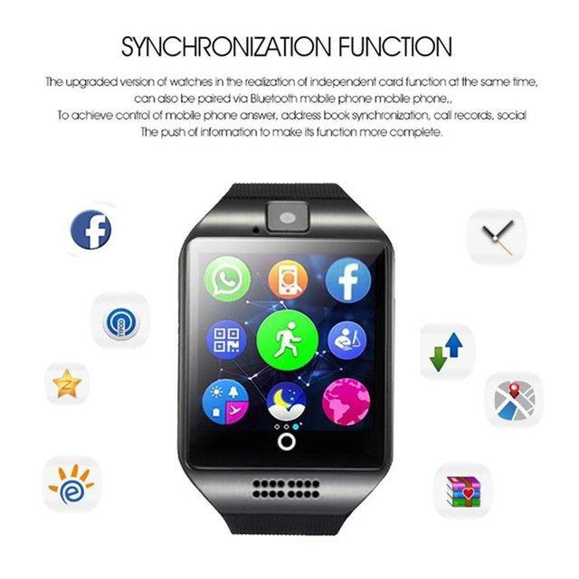 Q18 Bluetooth Smart Watch GSM Camera TF Card Phone Wrist Watch Touchscreen Wrist