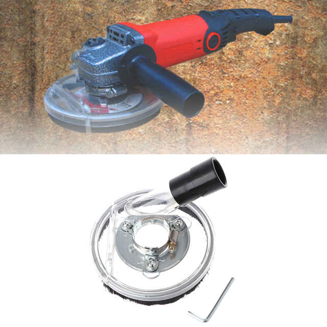 The best Dust Shroud Kit Dry Grinding Cover Tool For Angle Hand Grinder Clear 80 125mm Drop Shipping Support