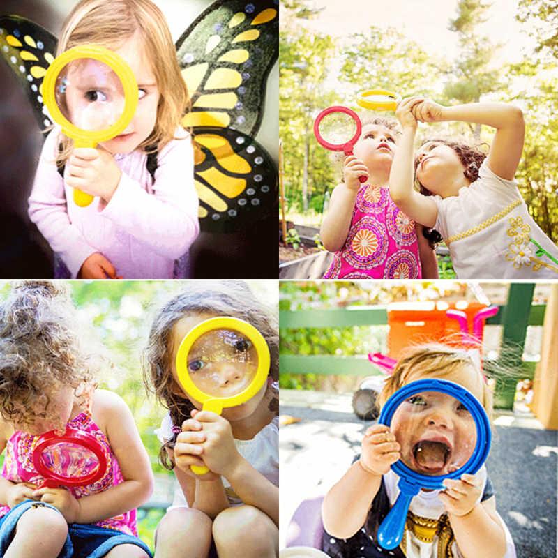 5 цветов пластиковое увеличительное мини-стекло детские игрушки