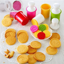 6 pieces / set of cartoon biscuits silicone printing mold cookie chocolate kitchen tools