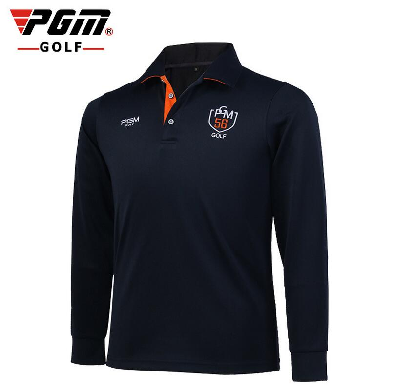 PGM Autumn And Winter Golf T Shirt Men Long Sleeve Quick Dry Golf Shirts Men Sport Leisure Golf Polo Shirts Breathable Apparel