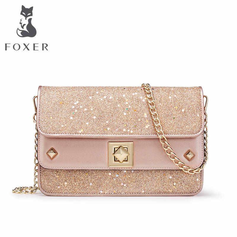 5eaf13b17950 FOXER 2019 New quality luxury handbags women bags designer fashion Chain small  bag women leather Shoulder