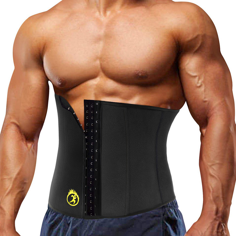 NINGMI Modeling Belt Waist Trainer For Men Slim Body Shaper Male Neoprene Sauna Thermo Slimming Strap Shapewears Tank Top XS-5XL