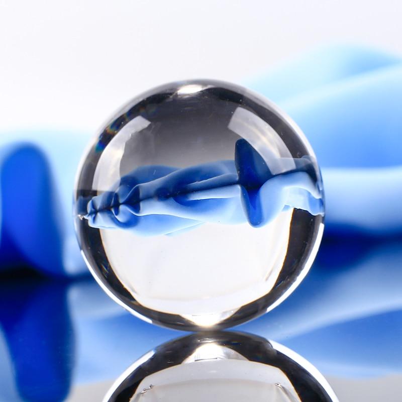 40mm fehér átlátszó üveggolyó átlátszó feng shui kristálygömb földgömb miniatűr díszekhez ajándékok lakberendezési kiegészítők