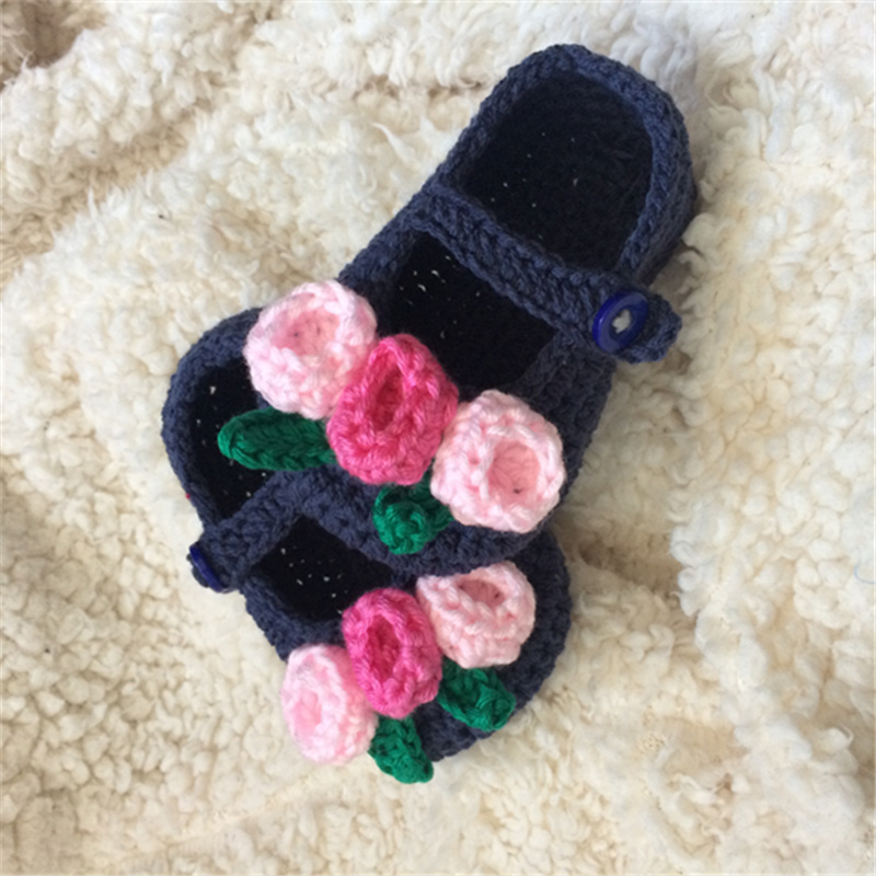 QYFLYXUEQYFLYXUE- Free Shipping Rochet Baby Shoes, Baby White Bow Flip Flops, Crochet Baby Toddler Shoes