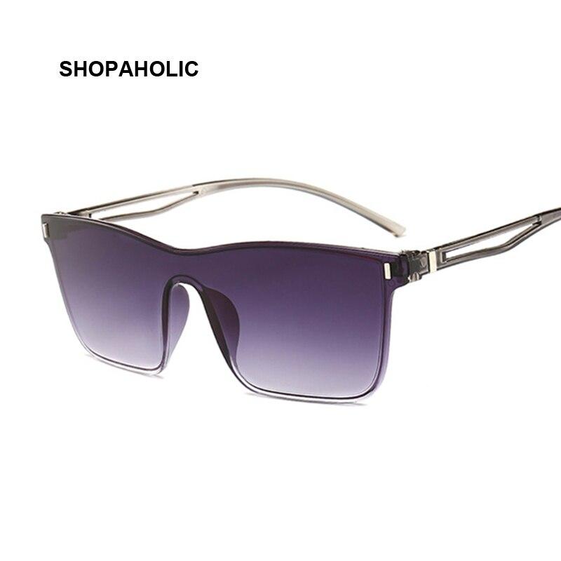 One-piece Cat Eye Sunglasses Women Gradient Lens Retro Mirror Rimless Sun Glasses Female Vintage Travel Eyewear UV400