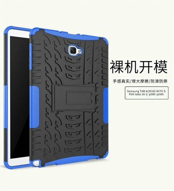 Tablet Чехол Для Samsung Galaxy Tab A 10.1 P580 P585 Случае стенд Защитная TPU + PC Чехол Для P580 P585 2016 Смарт Tablet крышка