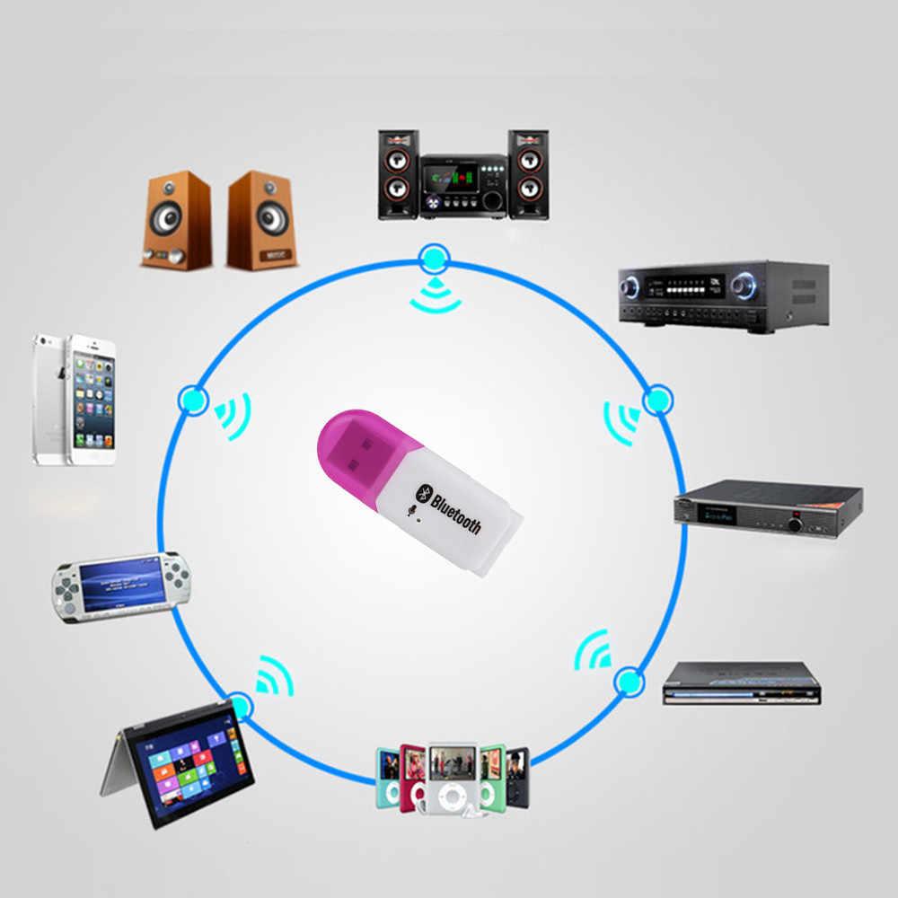 Voberry 5.0 USB Bluetooth Receiver Adaptor untuk Mobil Rumah Speaker Stereo Audio Musik Penerima Nirkabel Adapter