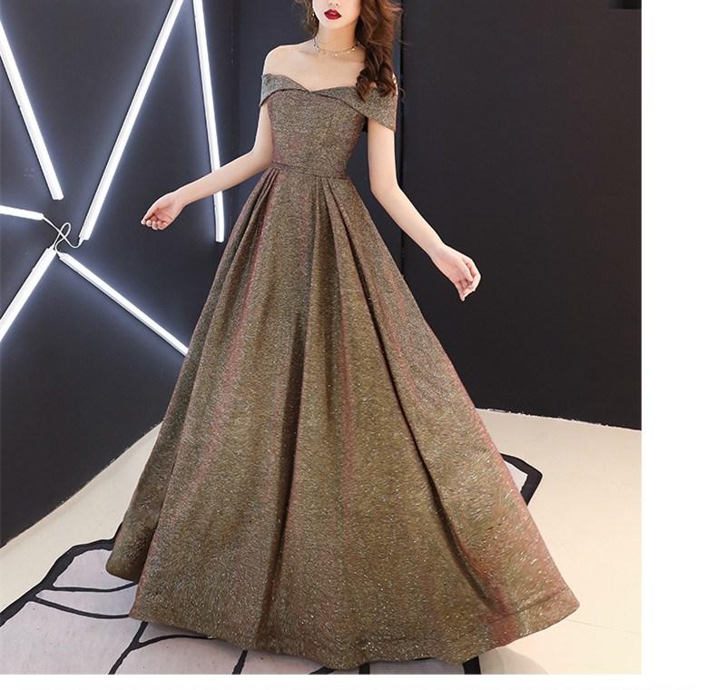 2019 Summer Women Sexy Slash Neck Party Dress Glitter Long Maxi Dresses Elegant Club Dress