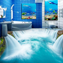 High Quality Custom Floor Mural Wallpaper Self-adhesive Waterfall