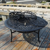 BBQ table Cast aluminum table for garden chair Outdoor furniture popular in size 130cm .