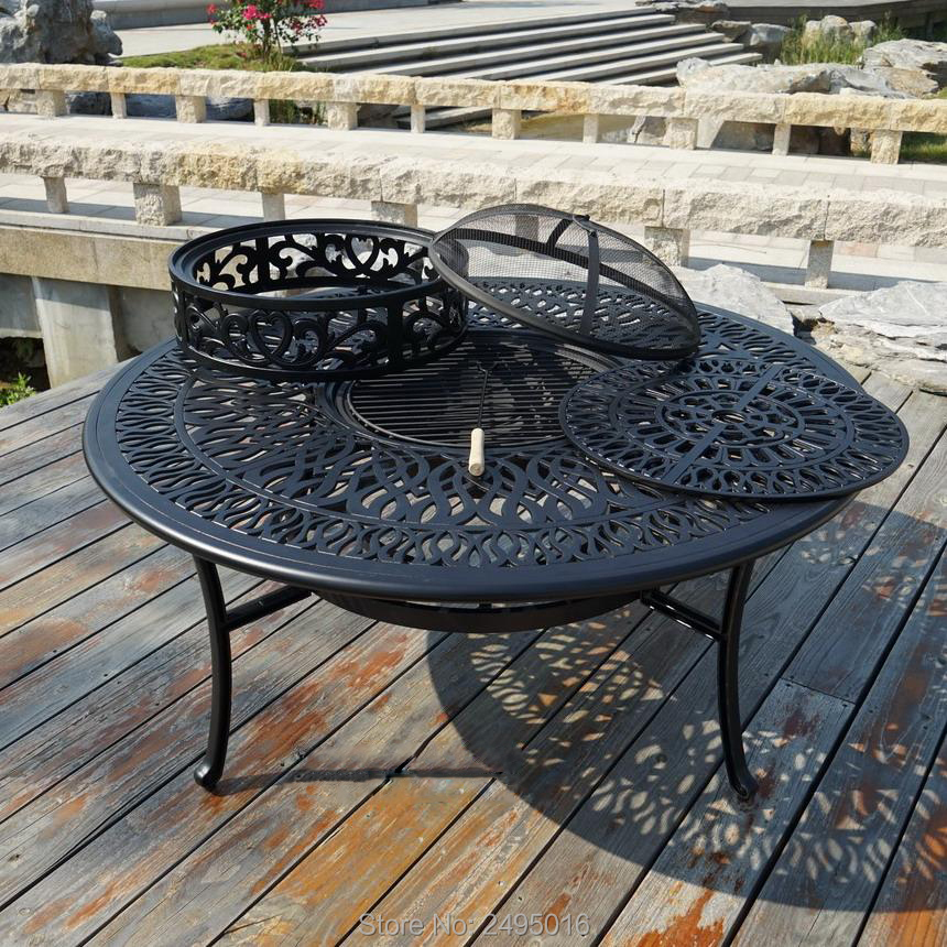 все цены на BBQ table Cast aluminum table for garden chair Outdoor furniture popular in size 130cm .