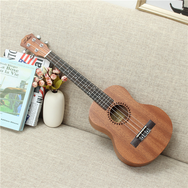 Zebra 26 Inch 4 Strings Sapele Alto Hawaii Ukulele Uke 18 Frets Concert Tenor Acoustic Guitar Professional Musical Instruments tenor concert acoustic electric ukulele