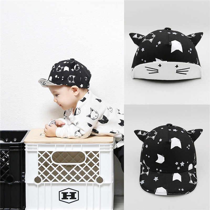 Children Newborn Baseball Cap Baby Girls Boys Spring Autumn Winter Hats Infant baby Cute Cat Ears Baby Kids Cotton Caps 1pc