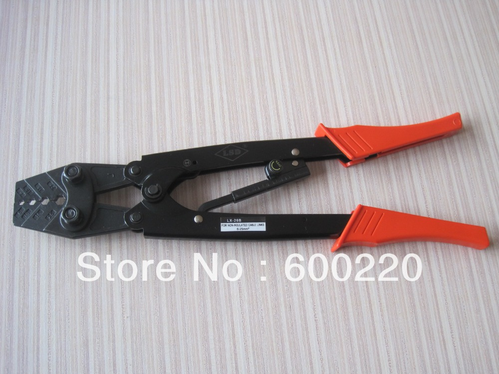 heavy duty crimping tool cable lug crimp tools for crimping 6 25mm2 cable lugs lx 26b in pliers. Black Bedroom Furniture Sets. Home Design Ideas