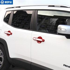 Image 3 - MOPAI ABS سيارة الخارجي الباب غطاء مقبض أعواد تزيين اكسسوارات ل Jeep Renegade 2015 2017 سيارة التصميم