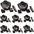 1 set Fashion Women Gold Plated Crystal Bridal Necklace Earring jewelry sets for women Party