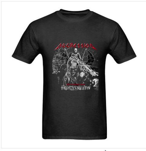 T Shirt Printing CompanyShort Aggression Concert Tour 2011 Band Man T-Shirt Size S To 3XL Black Men Top O-Neck T Shirt