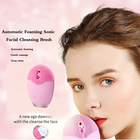 Electric Automatic Foaming Soni Facial Cleansing Brush Facial Body Cleansing Brush Exfoliating Kit Silicone Face Cleanser Brush