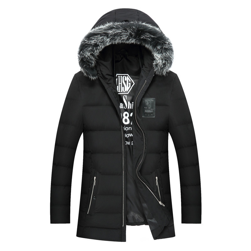 Plus size XXL - 7XL new style smart casual   down     coats   men fur collar hooded   down   jackets male outerwear 2019 autumn winter