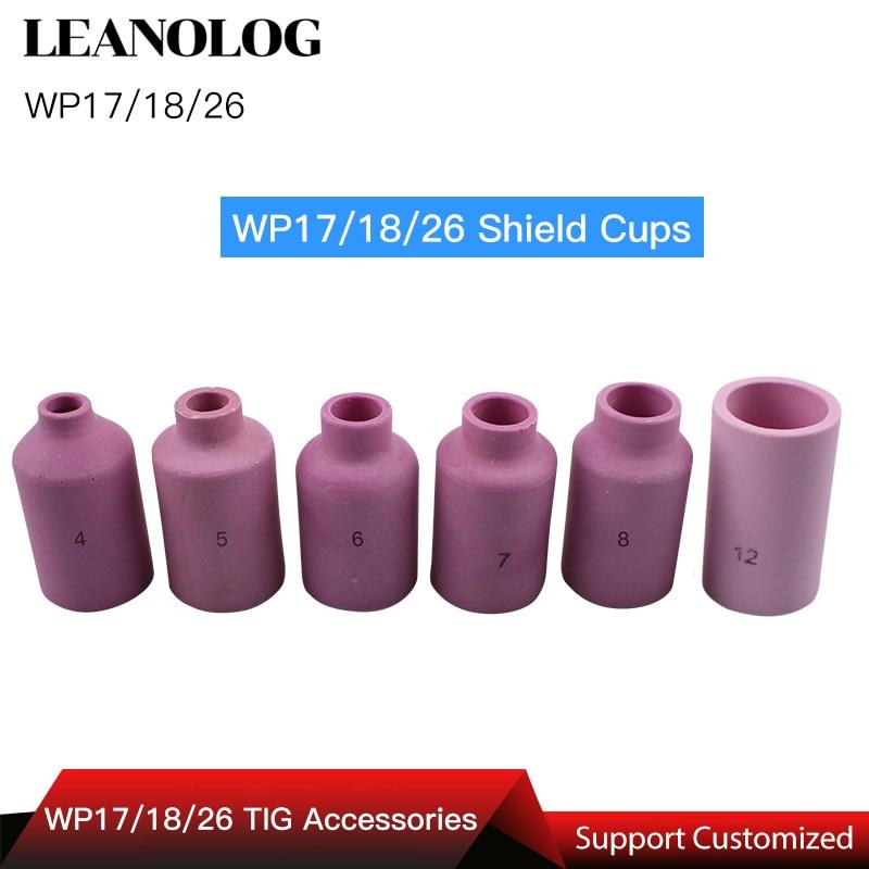 TIG Welding Machine Welder Accessories/Consumables WP26 17 18 Series Torch/Gun Porcelain Shield Cups Ceramic Nozzles