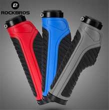 ROCKBROS Mountain Bike Grips MTB Handle Grip Shock Absorption Bicycle Handlebar Rubber + Aluminium Alloy