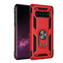 Shock Absorption Armor Bracket Shock Absorption TPU+PC 360° Rotating Case For Samsung Galaxy S10 Plus Silicone Hard Back цены