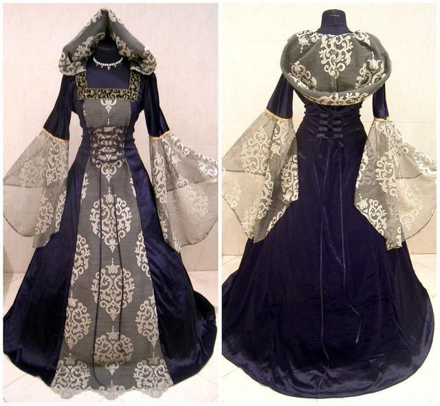 Medieval Victorian Renaissance Gothic Vampire Hood Gown Customized ...