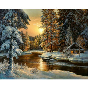 Diamond Painting Embroidery Mosaic-Picture Sunset Cross-Stitch Rhinestone Landscape XU