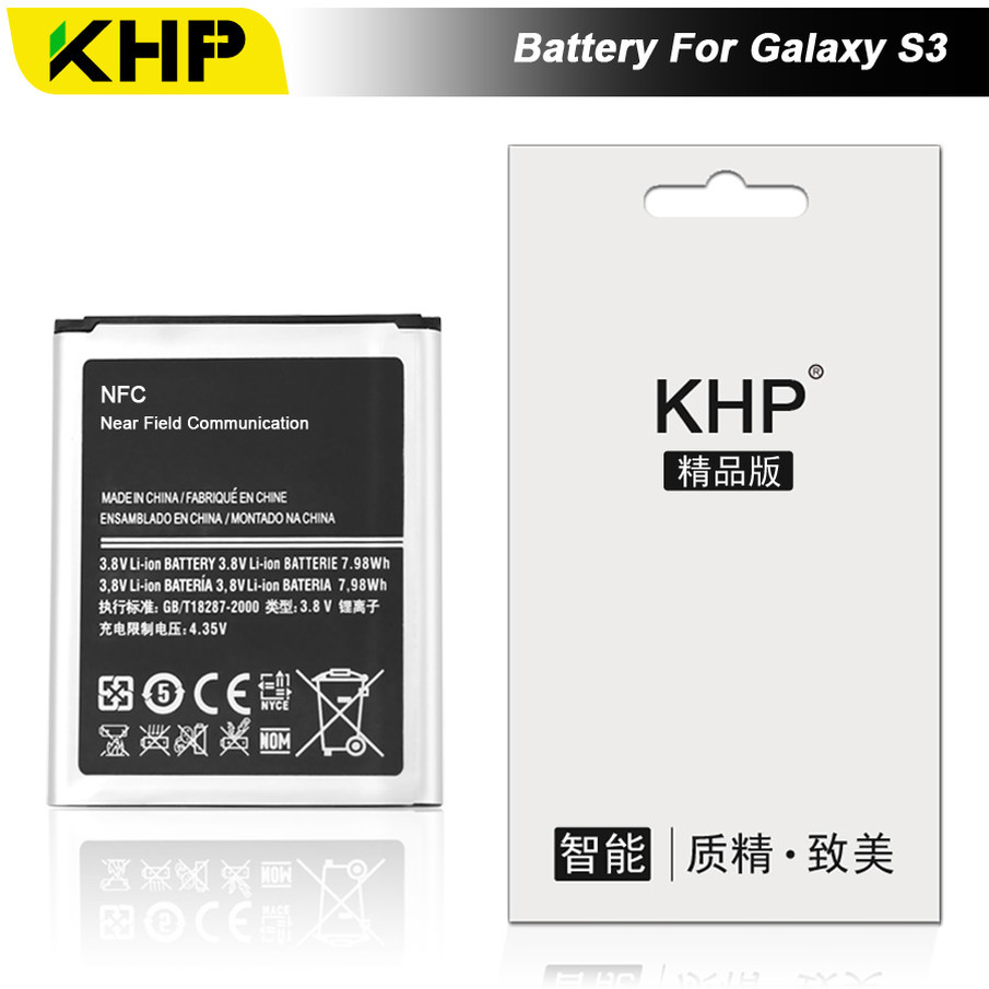 KHP 2017 Original KHP Phone Battery For Samsung Galaxy S3 I9300 I9305 I9308 Battery EB-L1G6LLU Replacement Mobile Battery