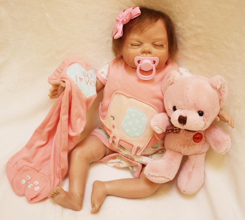 55cm Real Rebron Babies Boneca Silicone Reborn Baby Dolls with Clothes Cute Newborn-Baby-Doll Educational Toys Children55cm Real Rebron Babies Boneca Silicone Reborn Baby Dolls with Clothes Cute Newborn-Baby-Doll Educational Toys Children