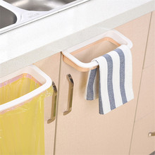 1Pcs Kitchen Gadgets Cabinet Door Garbage Bag Shelf Tools Rack Hanging Storage Trash Accessories