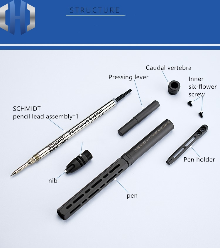Presale Titanium Alloy Automatic Pencil Student Continuous Lead 0 5 Low Center Of Gravity Correction Grip 0 7 Drawing EDC in Outdoor Tools from Sports Entertainment