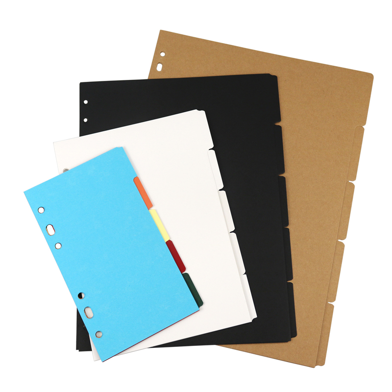 5/ 10/12/31 sheets A-Z letter planner dividers, journal dividers B5 A4, black kraft white plastic index separator paper